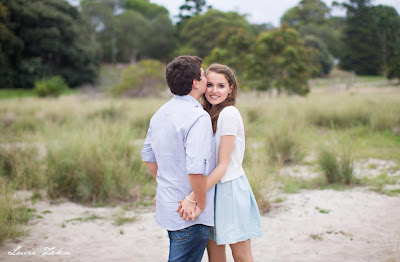 Kristy and Jesse - Engagement Photoshoot - Centennial Park - Lucie Zeka