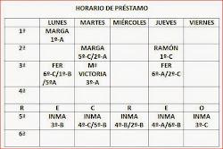 HORARIO DE PRÉSTAMO