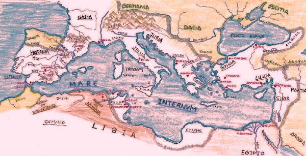 El Mare Internum en tiempos de C. Julio César
