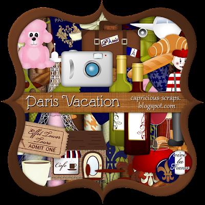 "Scrapbook Freebie ""Paris Vacation"" by capricious"