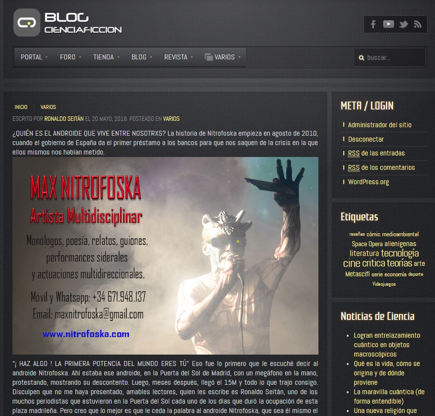 Nitrofoska en el Blog CienciaFicción