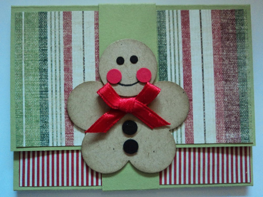 Card corner by candee gingerbread man gift card holder