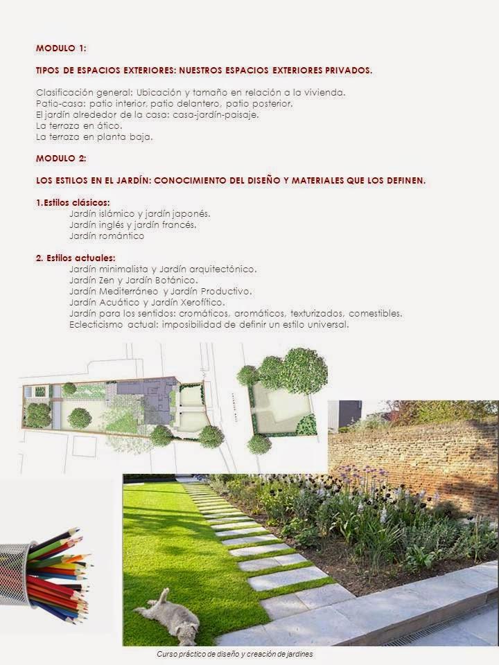 curso bonificable de paisajismo y dise o de jardines