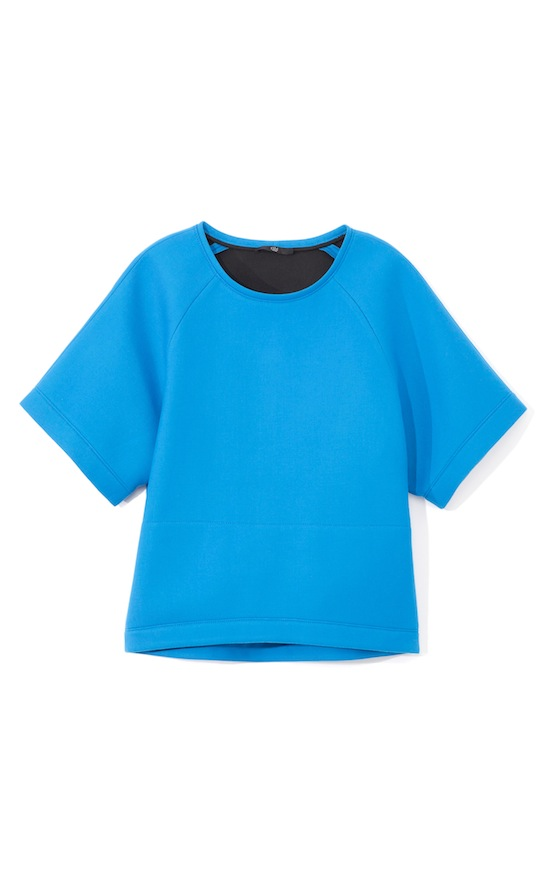 Tibi Ultramarine Bonded Techy Twill Top Fall 2013