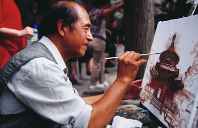 Běijīng - Artist painting in the Forbidden City