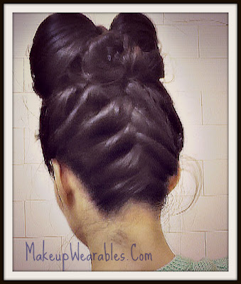 Upside down French braided, hair bow hairstyle tutorial video on yourself.  Updos &amp; easy hairstyles for medium long hair