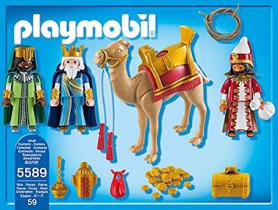 TOYS : JUGUETES - PLAYMOBIL Christmas  Navidad - 5589 Los Tres Reyes Magos  Producto Oficial 2014 | Piezas: 59 | Edad: 4-10 años  Comprar en Amazon España