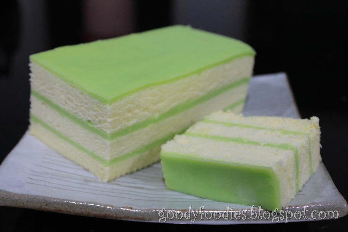 Cheese Pandan Layer Cake