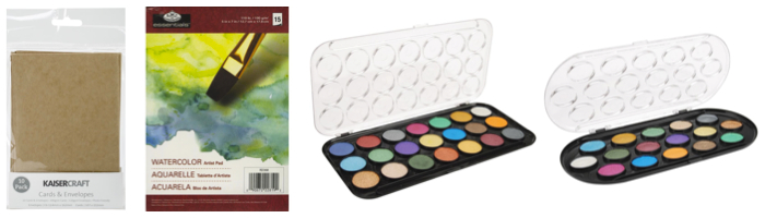 Pearlescent Watercolor Paint Cakes