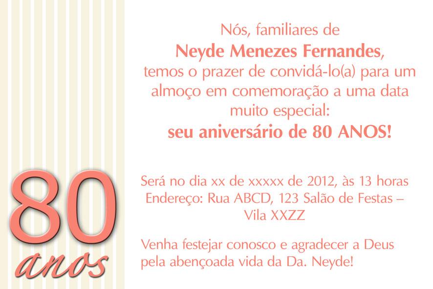 Tag Mensagem De Aniversário De 80 Anos Para Mãe