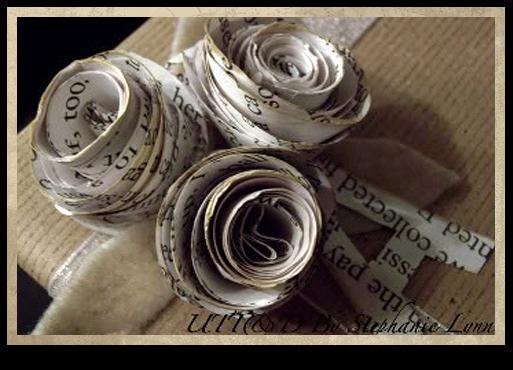 Flores con papel de periódico