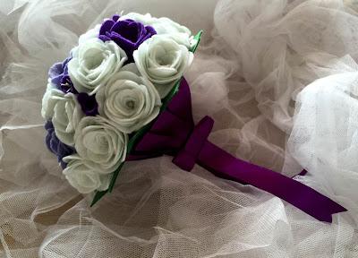 ramo fieltro novia