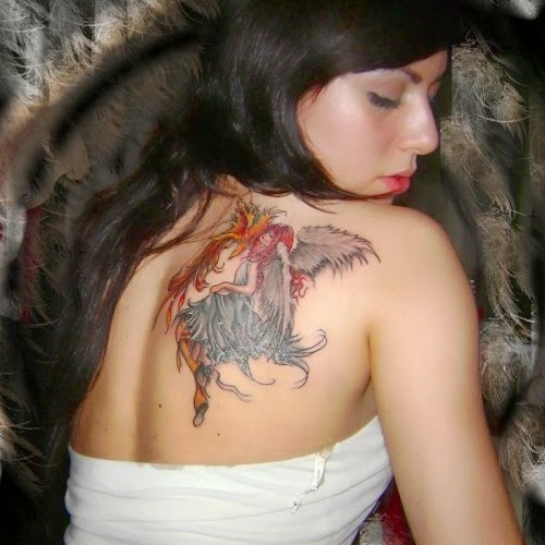angel tattoos with battle of good and evil tattoo ideas designs. Black Bedroom Furniture Sets. Home Design Ideas