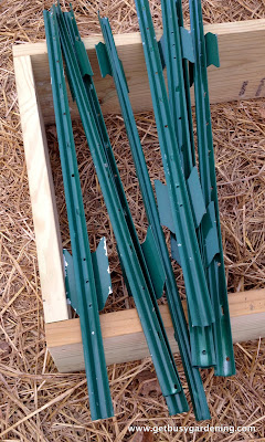 Fence post stakes used to build supports