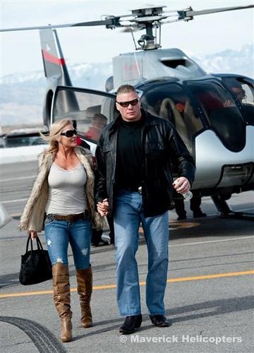 Brock lesnar and Sable at airport