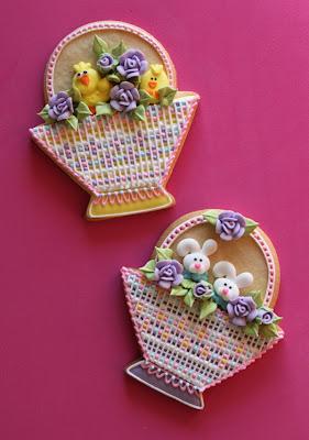 Biscoito decorado de Páscoa