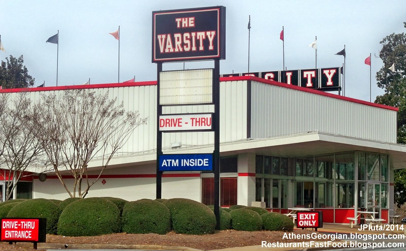 The Varsity Athens Georgia West Broad Street At Milledge Ave Menu Hot Dog Wiener Fast Food Restaurant Ga