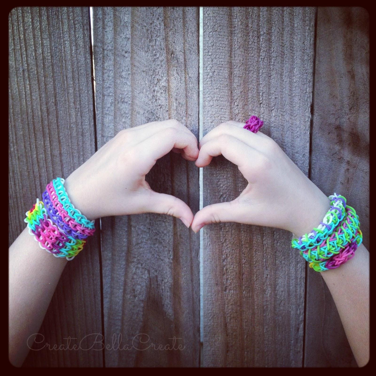 createbellacreate: Rainbow Loom Bracelets