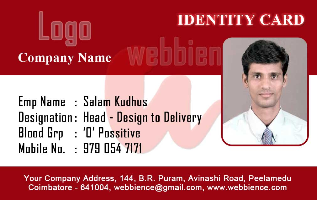 employee identification card template