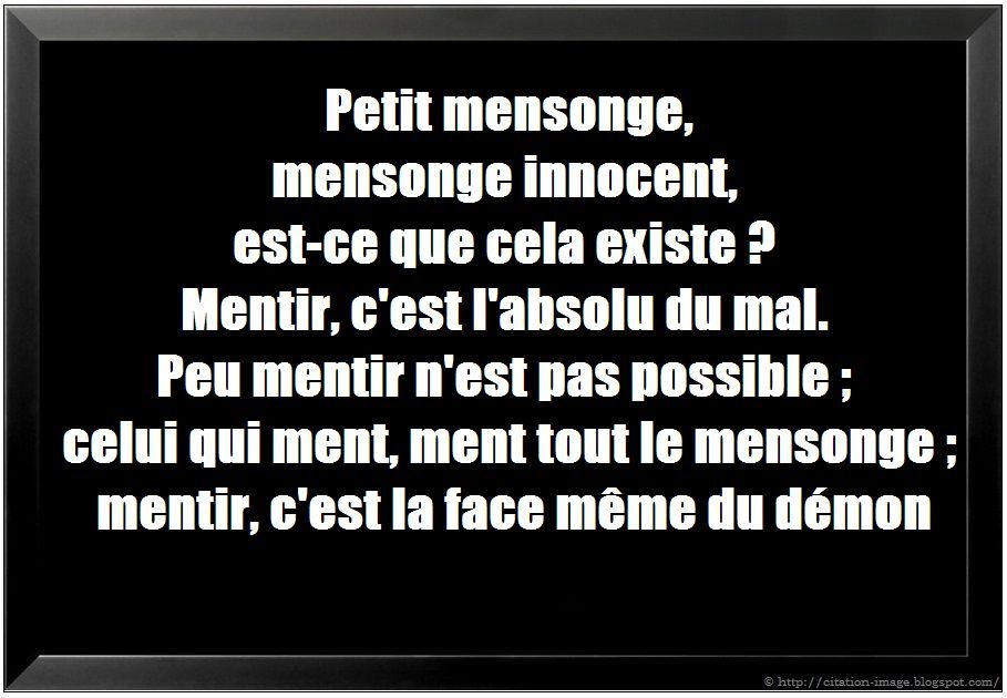 citation sur le mensonge
