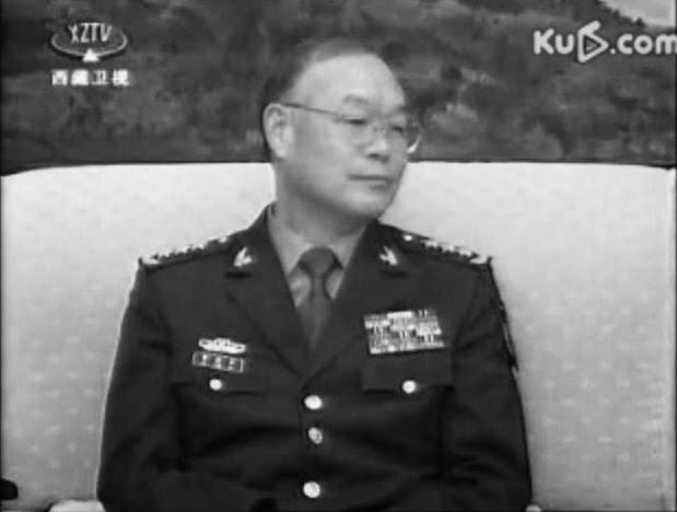 (上图)中共总政治部副主任、原江泽民办公室主任贾廷安。(视频截图)