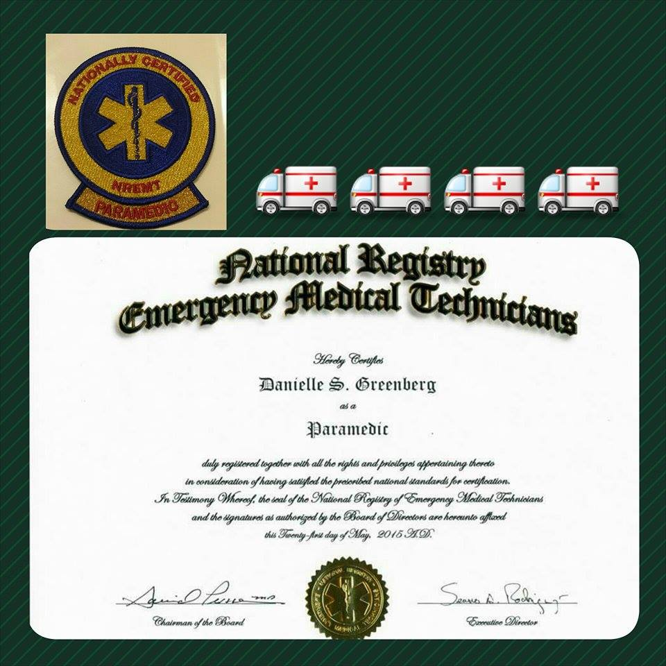 My aliyah story i had what it takes to be a nationally registered paramedic now that i have that gold patch i am so proud of myself and all that i have accomplished 1betcityfo Images