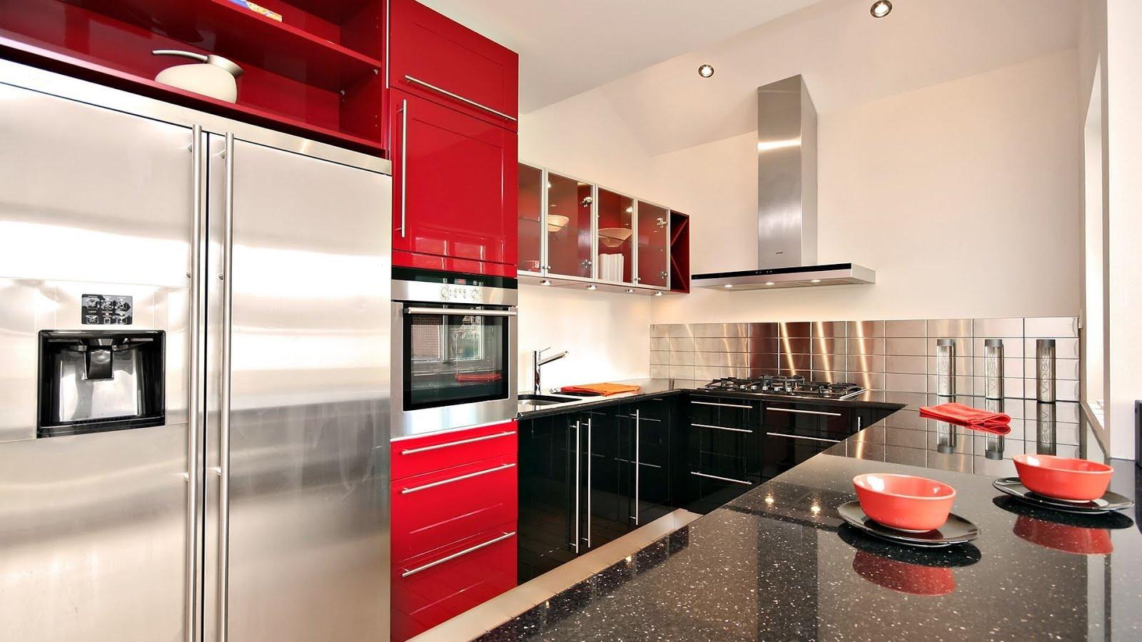 Cozinha Vermelha Contempor Nea E Cheia De Personalidade Blog De