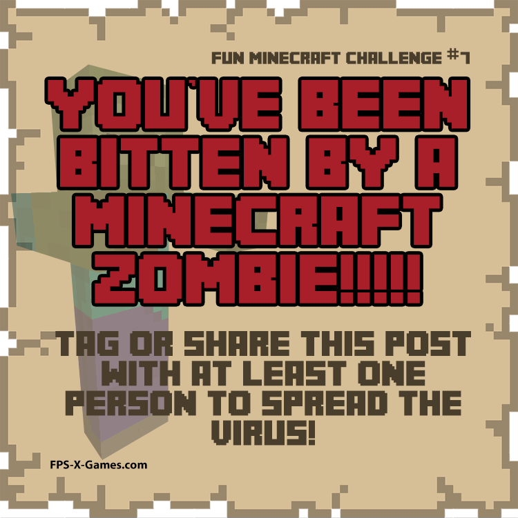 Fun Minecraft Challenge No7 - Minecraft Zombie Virus Tag Game