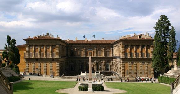 La foto del Palazzo Pitti di Firenze
