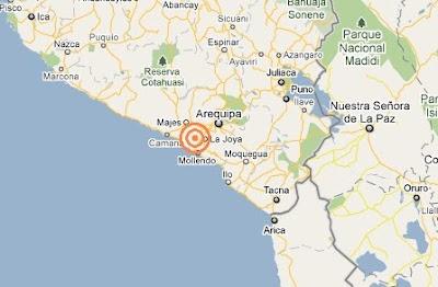 dos temblores en arequipa 12 abril 2011