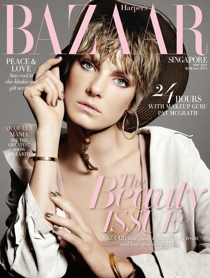 Actress @ Angela Lindvall by Yu Tsai for Harper's Bazaar Singapore, May 2015