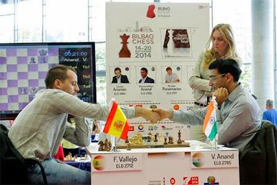 Echecs : Francisco Vallejo Pons (2712) 0-1 Viswanathan Anand (2785)