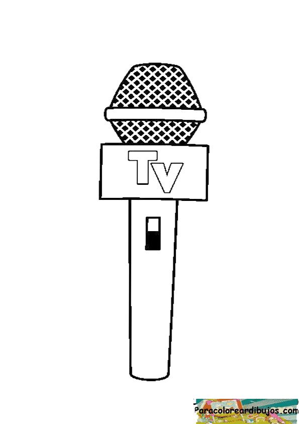 dibujo de microfono para colorear