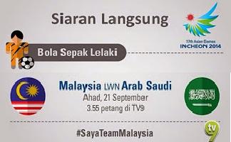 Keputusan Penuh Malaysia Vs Arab Saudi Bolasepak Sukan Asia 2014