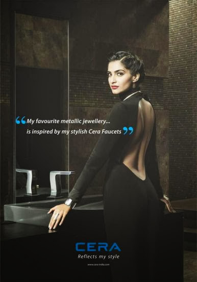 Sonam Kapoor's new print ad shoot for Cera