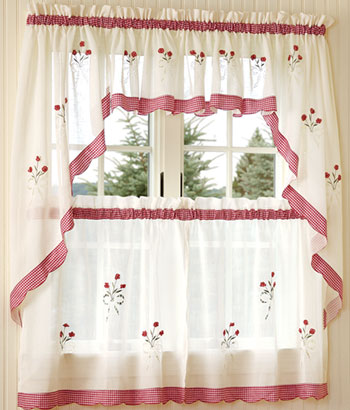 Interior design tips perfect country curtains for the kitchen perfect country curtains for the - Country kitchen curtain ...