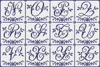 Alfabeti blu a punto croce punti e spunti for Alfabeto punto croce grande