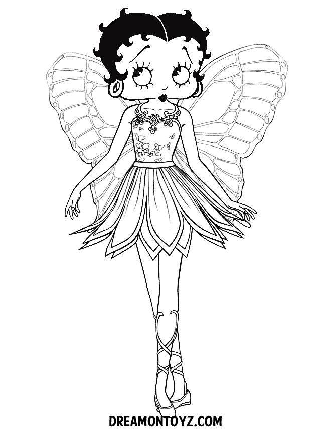 betty boop coloring pages - Betty boop coloring pages 123coloring
