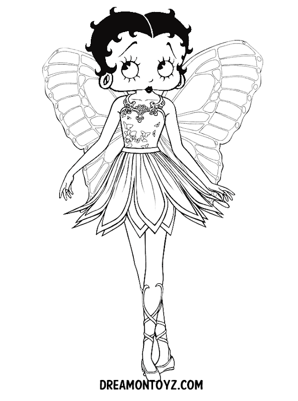 New Betty Boop coloring pages and black and white pictures title=