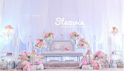 Pelamin Dewan Moden Pelamin Pastel Peach Pink