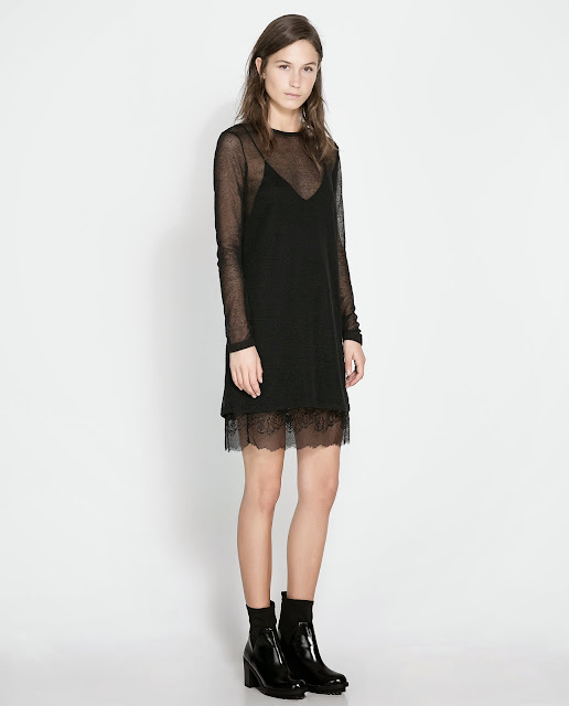 mesh layer dress