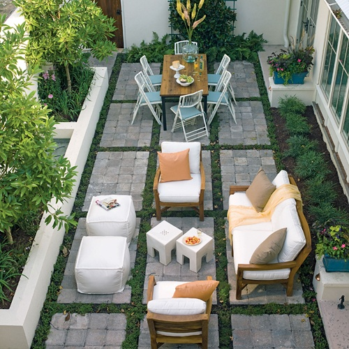 Patio Pavers With Grass In Between