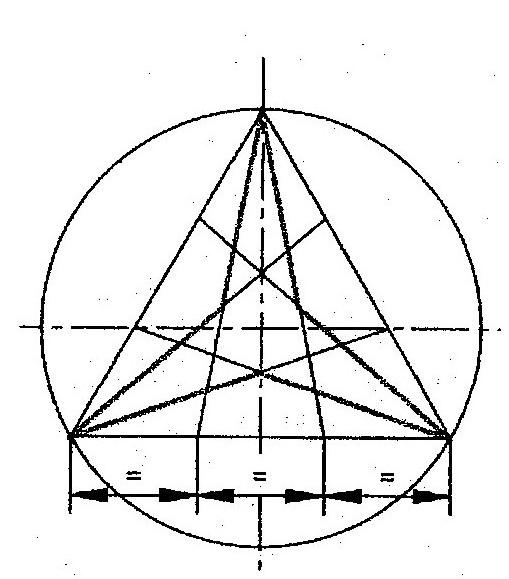 de dibujo tcnico estrella de 3 puntas
