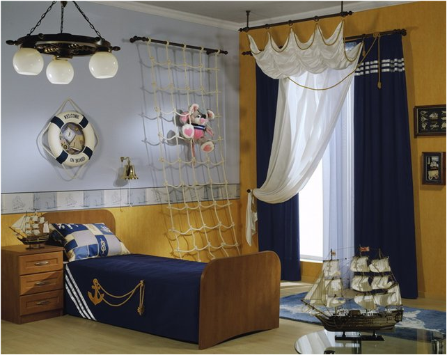 Nautical theme for boys bedrooms room design ideas - Boys room decor ...