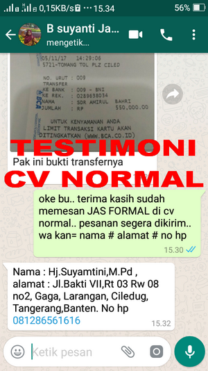 TESTIMONI PEMBELI JAS PENGANTIN/FORMAL CV NORMAL