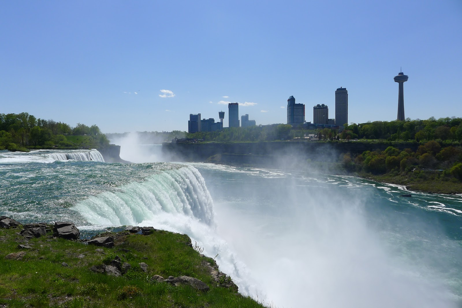 We went to niagara falls where i saw a tiny bit of canada for the