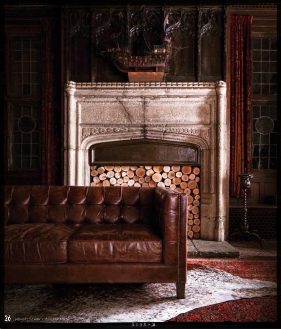 worn leather sofa interior images pinterest