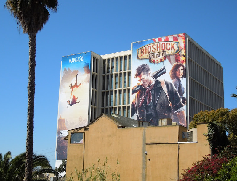 BioShock Infinite video game billboard
