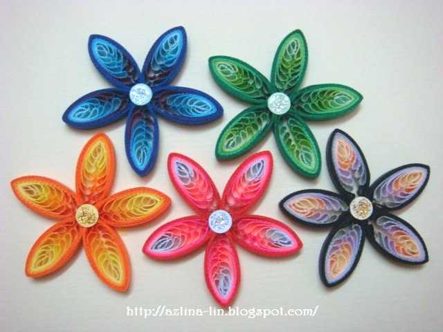 After My First Try At Combing Two Different Colours Of Scrap Quilling Strips In Previous Flower Design I Got Another Idea 5