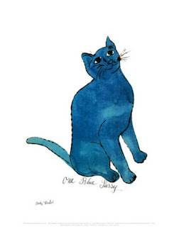 One Blue Pussy by Andy Warhol